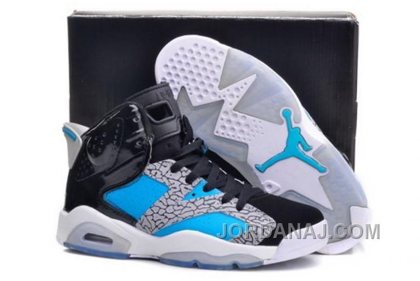 cheap for discount d59c7 e661d NORWAY NIKE AIR JORDAN VI 6 RETRO MENS SHOES NEW RELEASES BLACK GRAY BLUE  HOT Only  96.00 , Free Shipping!