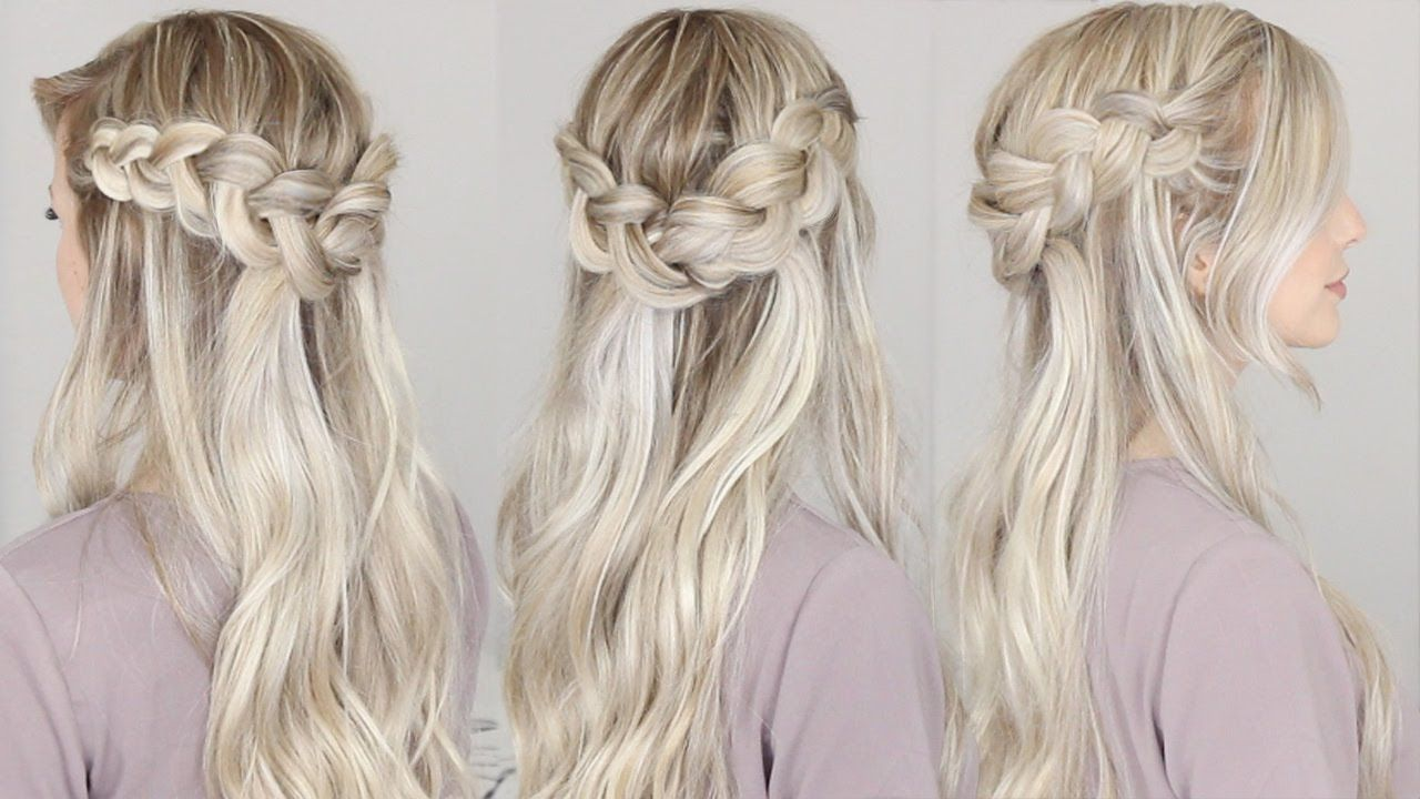 THUMBS UP FOR MORE EASY HAIRSTYLES! :) I LOVE crown braids for ...
