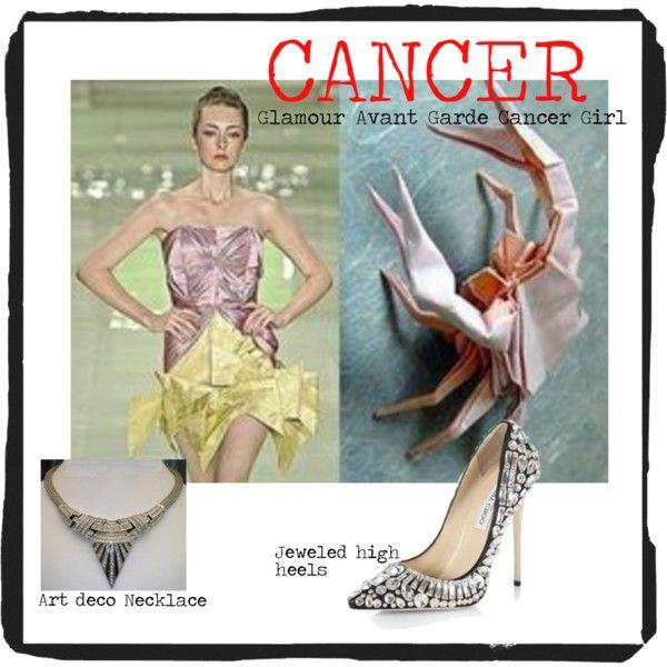 Glamour Avant Garde Cancer Girl by redcarpetlook on Polyvore