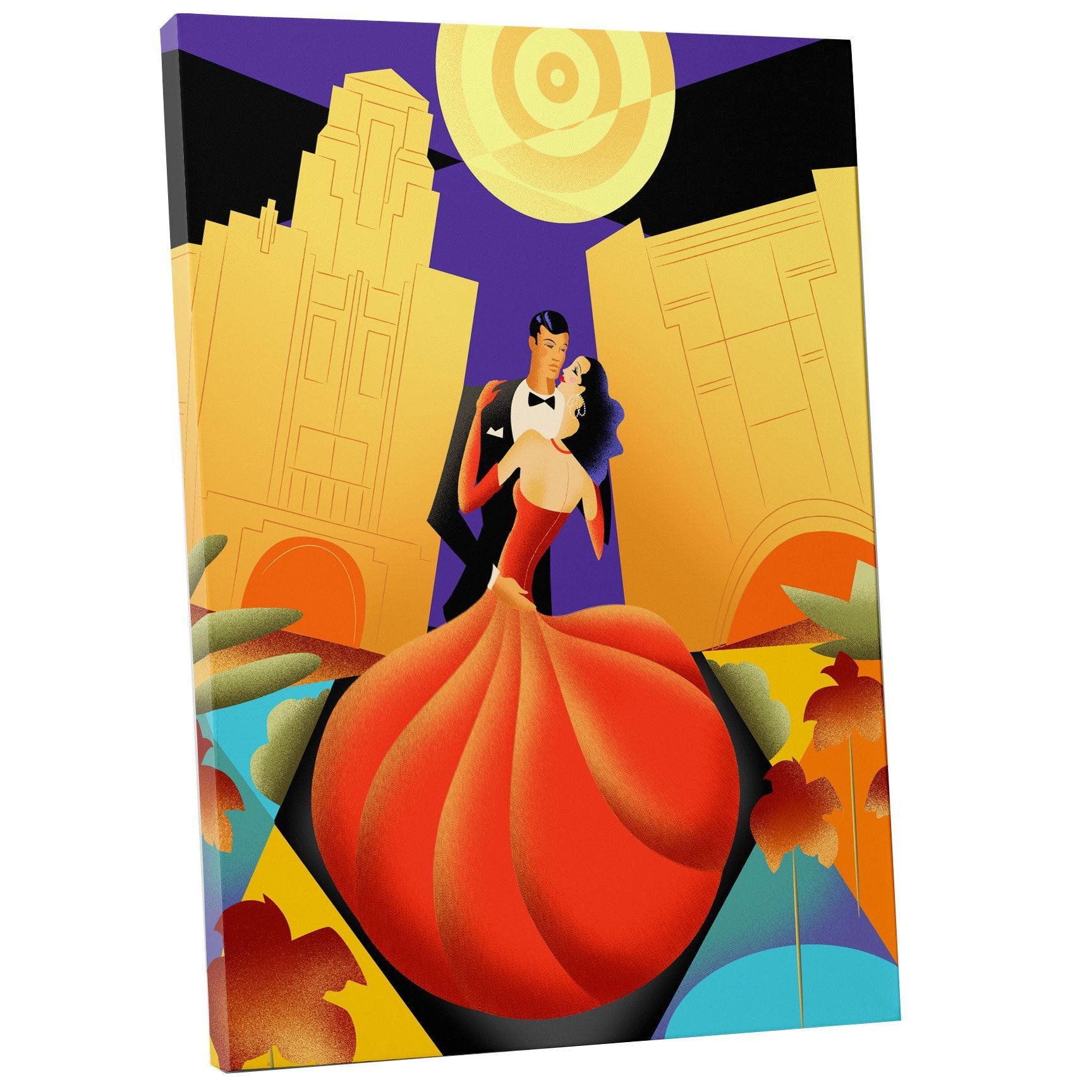 Sergio Baradat \'Ballroom Dancing\' Gallery Wrapped Canvas Wall Art ...