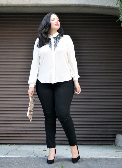 837b8616793 5 ways to wear the plus size white shirt that you will love - Page 3 ...