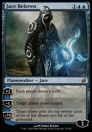 Rare Magic//mtg FOIL Signature Spellbook: Jace Jace Beleren