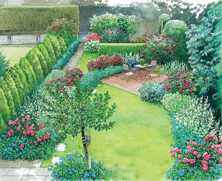 reihenhausgarten im neuen gewand gardens landscaping. Black Bedroom Furniture Sets. Home Design Ideas
