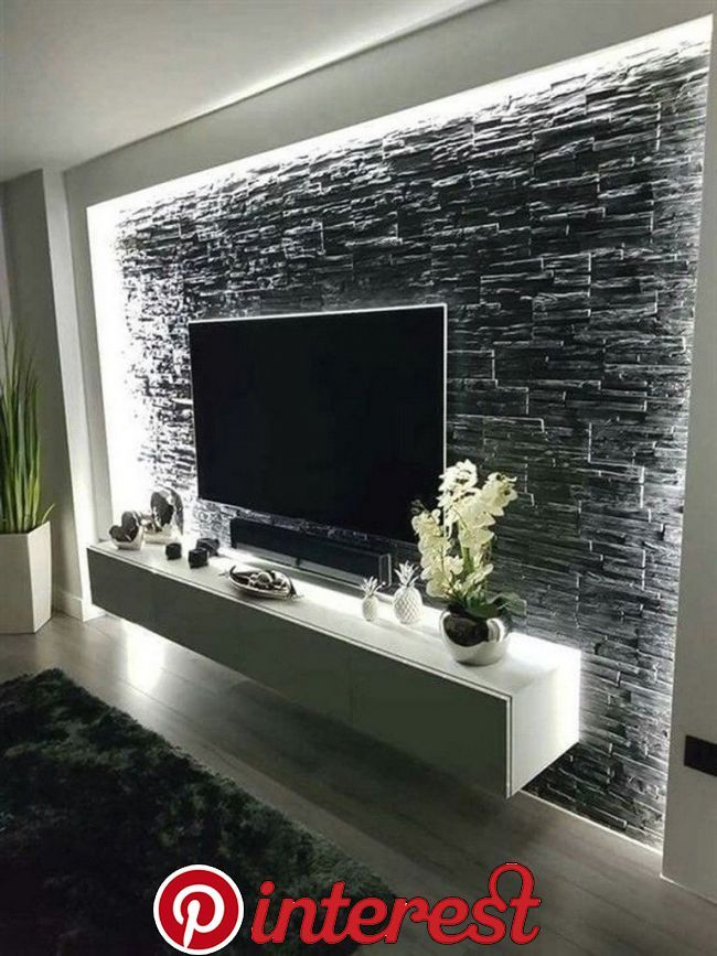 55 Amazing Wall Design Ideas Usually We Hang A Painting Or Family Photos To De Minimalist Living Room Living Room Design Modern Living Room Tv Unit Designs