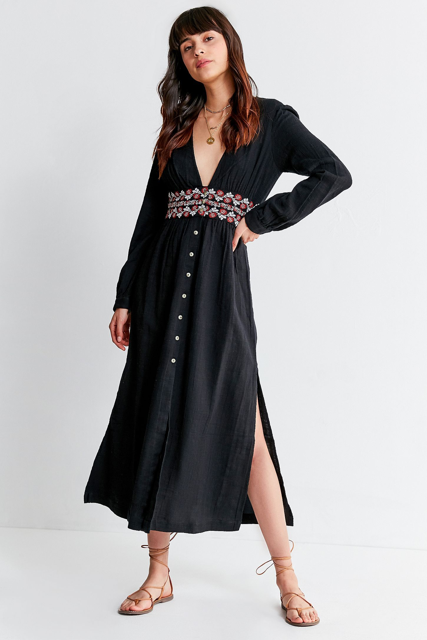 bb9fbb6860ea UO Last Dance Button-Down Midi Dress | Style | Dresses, Urban ...