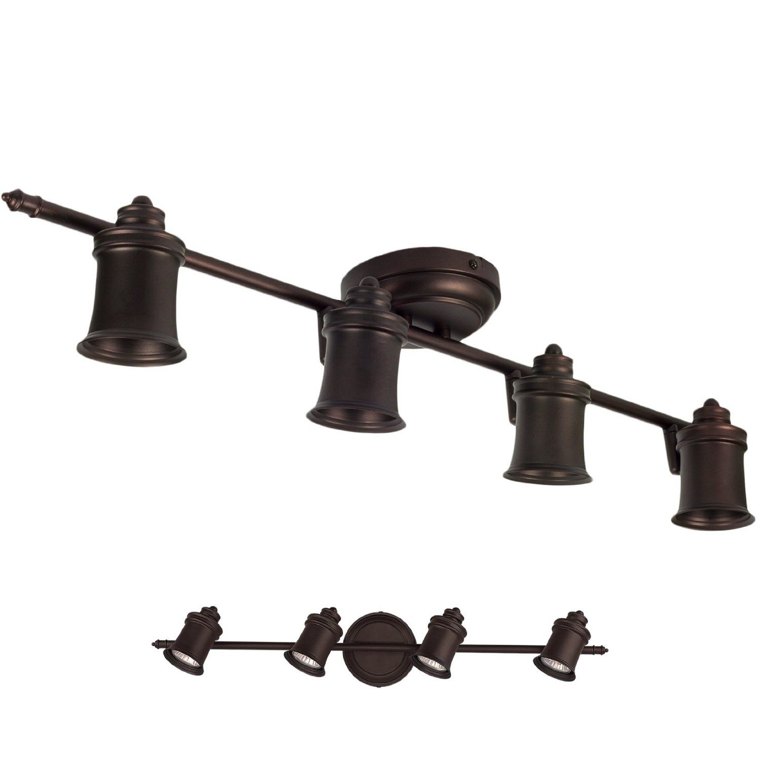 Oil Rubbed Bronze 4 Light Track Lighting Wall Ceiling Mount Fixture