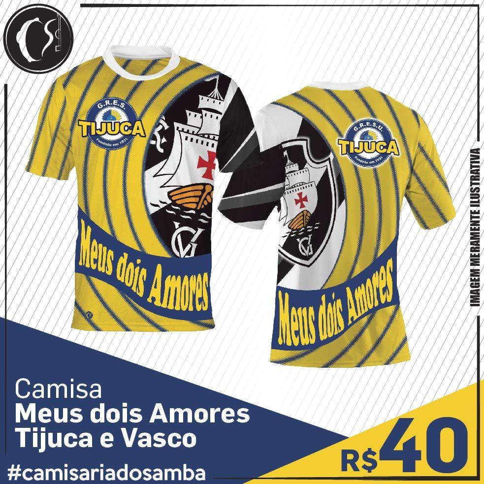 Camisa Meus dois Amores - Tijuca e Vasco