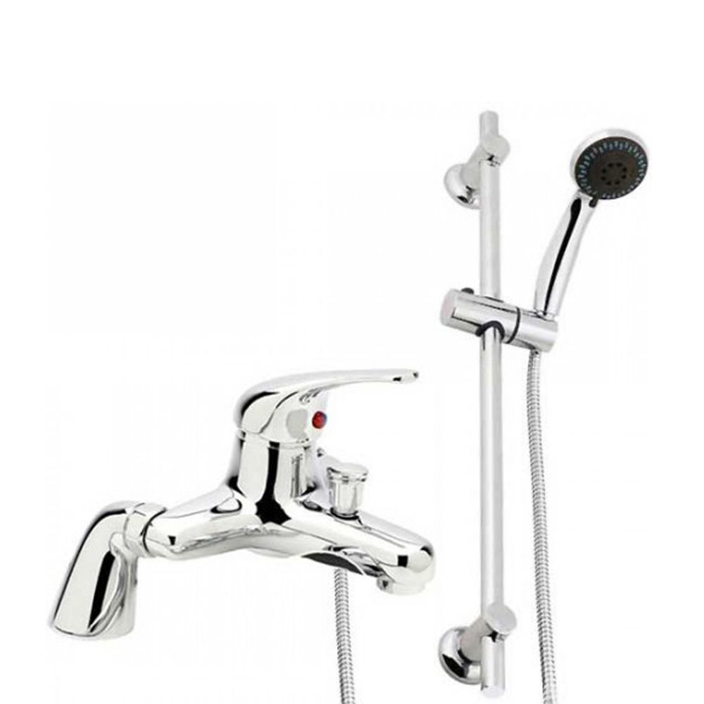 The Eco Bath Shower Mixer Tap With Shower Rail Kit • Kit includes ...