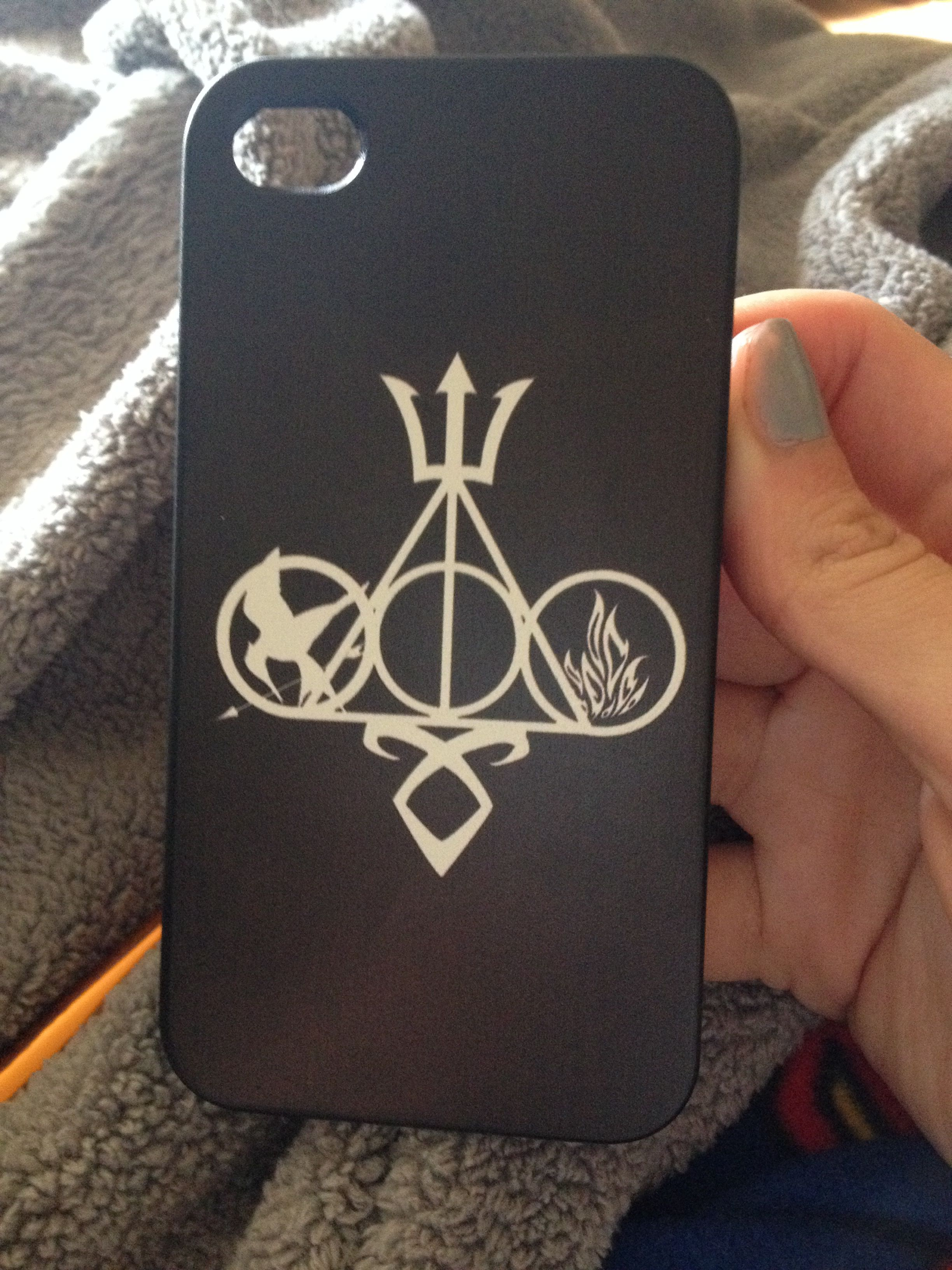 d05cd98fed7 Got my fandom phone case percy Jackson, Harry Potter, Hunger Games, and  Divergent!