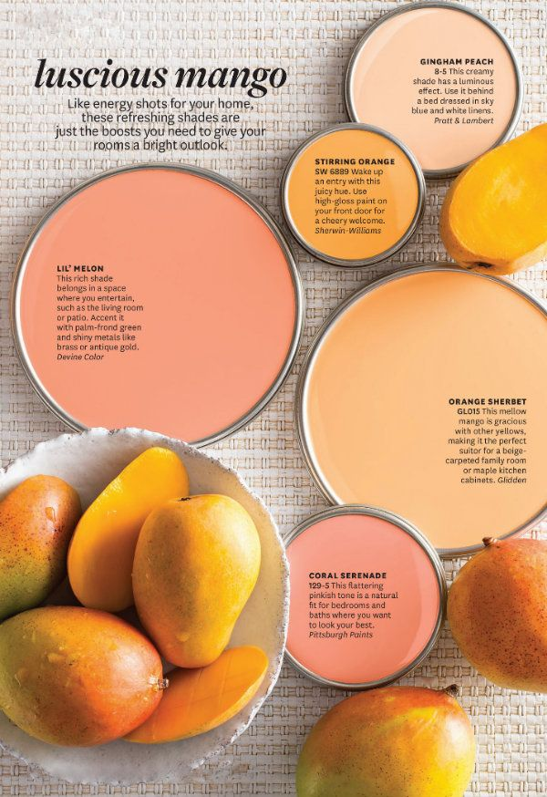Color Inspiration: Mango And Peach. #bhgcolor