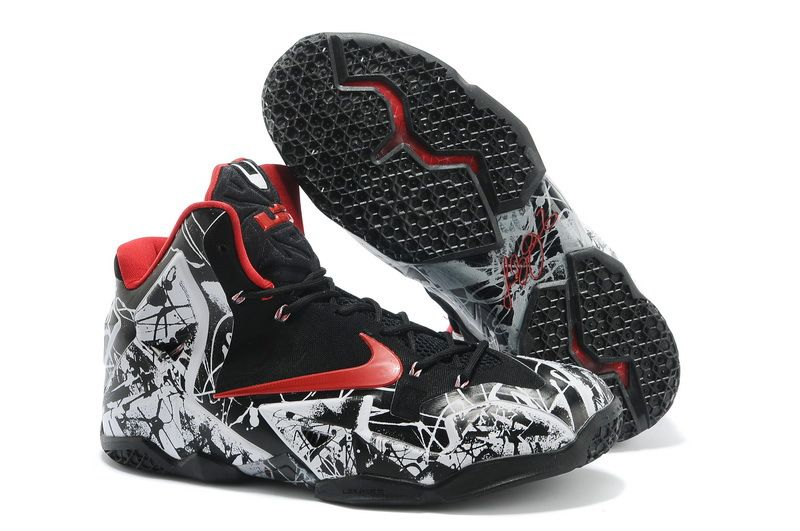 0a5beb4f1be Cheap Lebron 11 Scrawl Black White Red cheap nike lebron 11