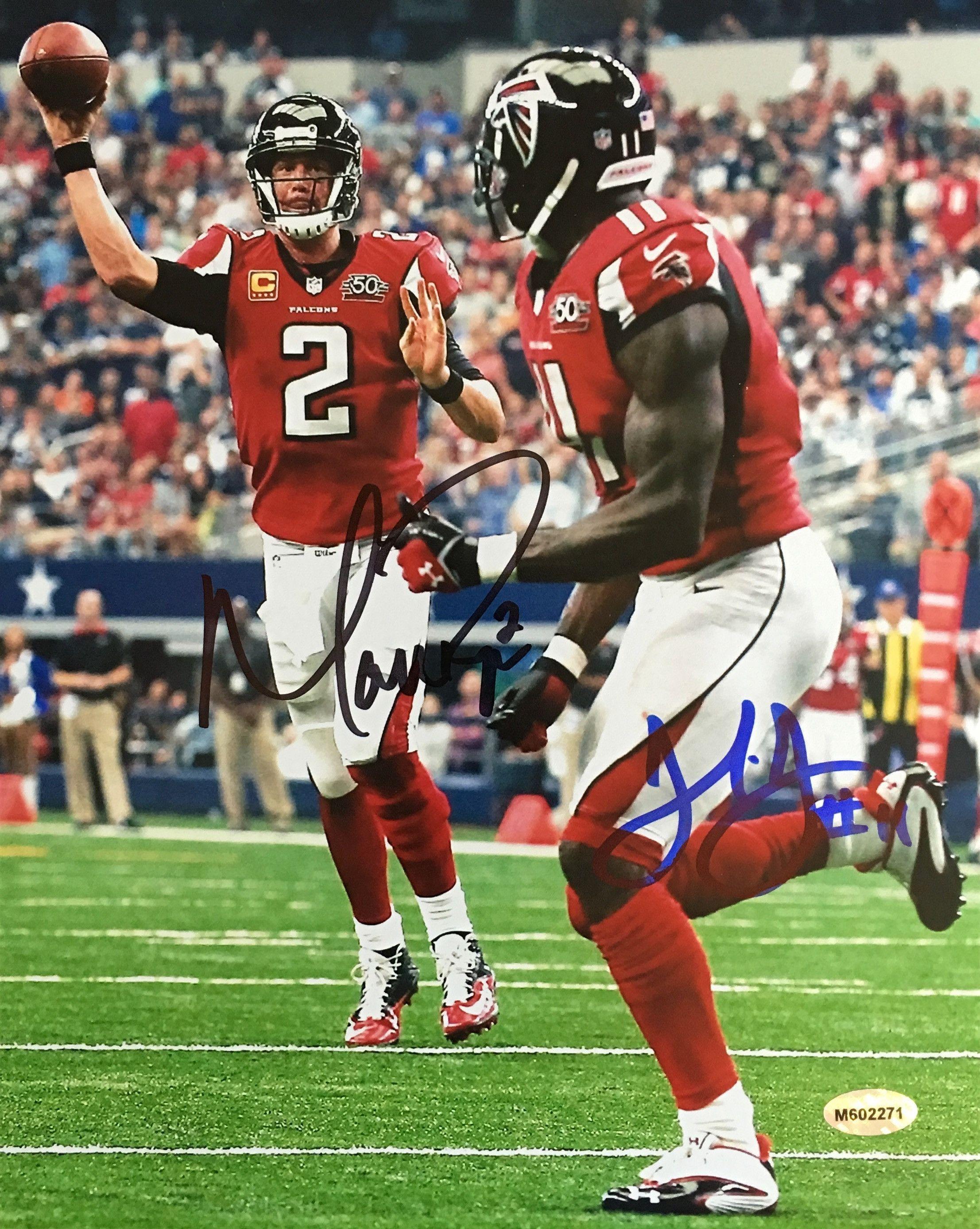 Beautifully Dual Signed 8x10 Photo Featuring The Autographs Of Nfl Mvp Matt Ryan And Star Wr Julio Jones The Si Julio Jones Atlanta Falcons Football Matt Ryan