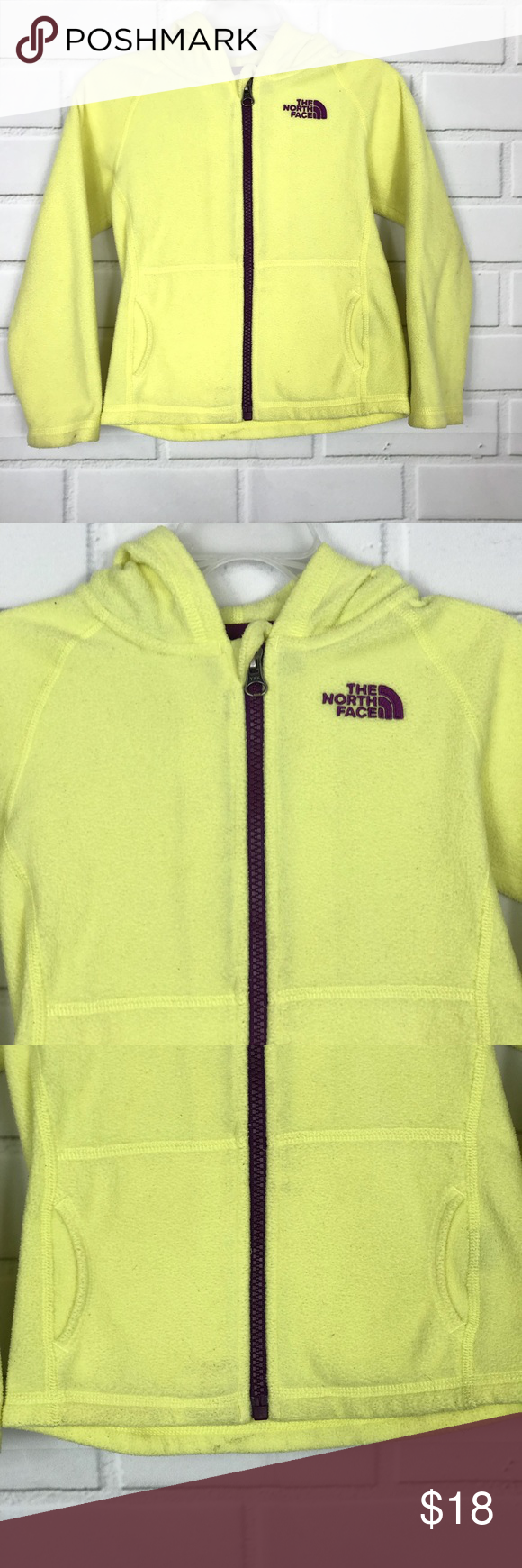 The North Face Girl Yellow Purple Fleece 4t Jacket North Face Girls North Face Jacket Jackets [ 1740 x 580 Pixel ]