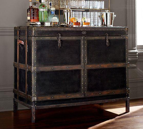Ludlow Trunk Bar Cabinet Cabinet Bar Furniture Antique Bar