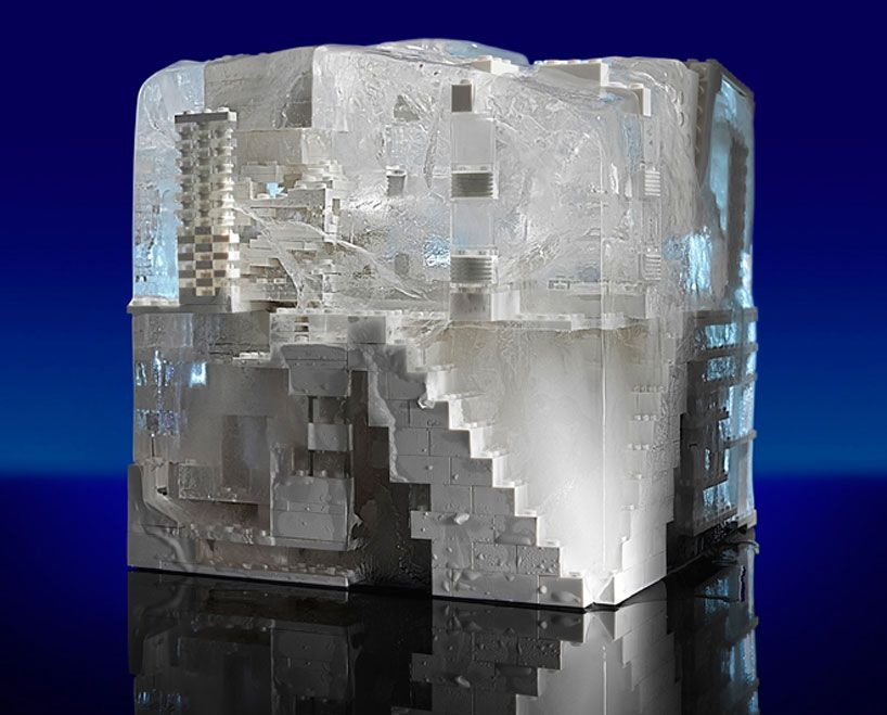 buildings designed in LEGO by snohetta + SOM + SHoP architects