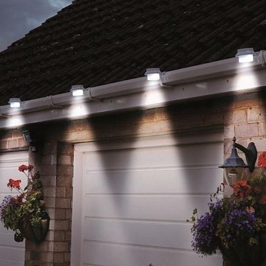 4 Pack Solar Powered Led Lights For Gutters Outdoors Outdoor Solar Outdoor Lighting Solar Lights