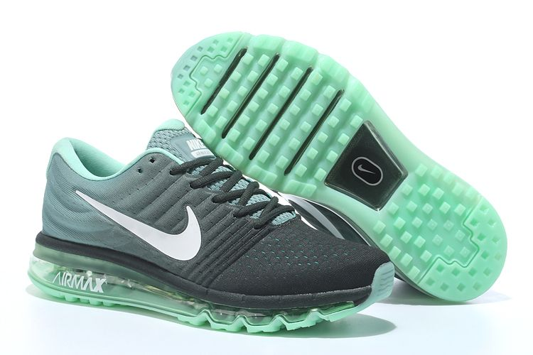 new product ce9f7 f4482 ... france nike air max 2017 dames loopschoenen zwart groen 4037a 45252