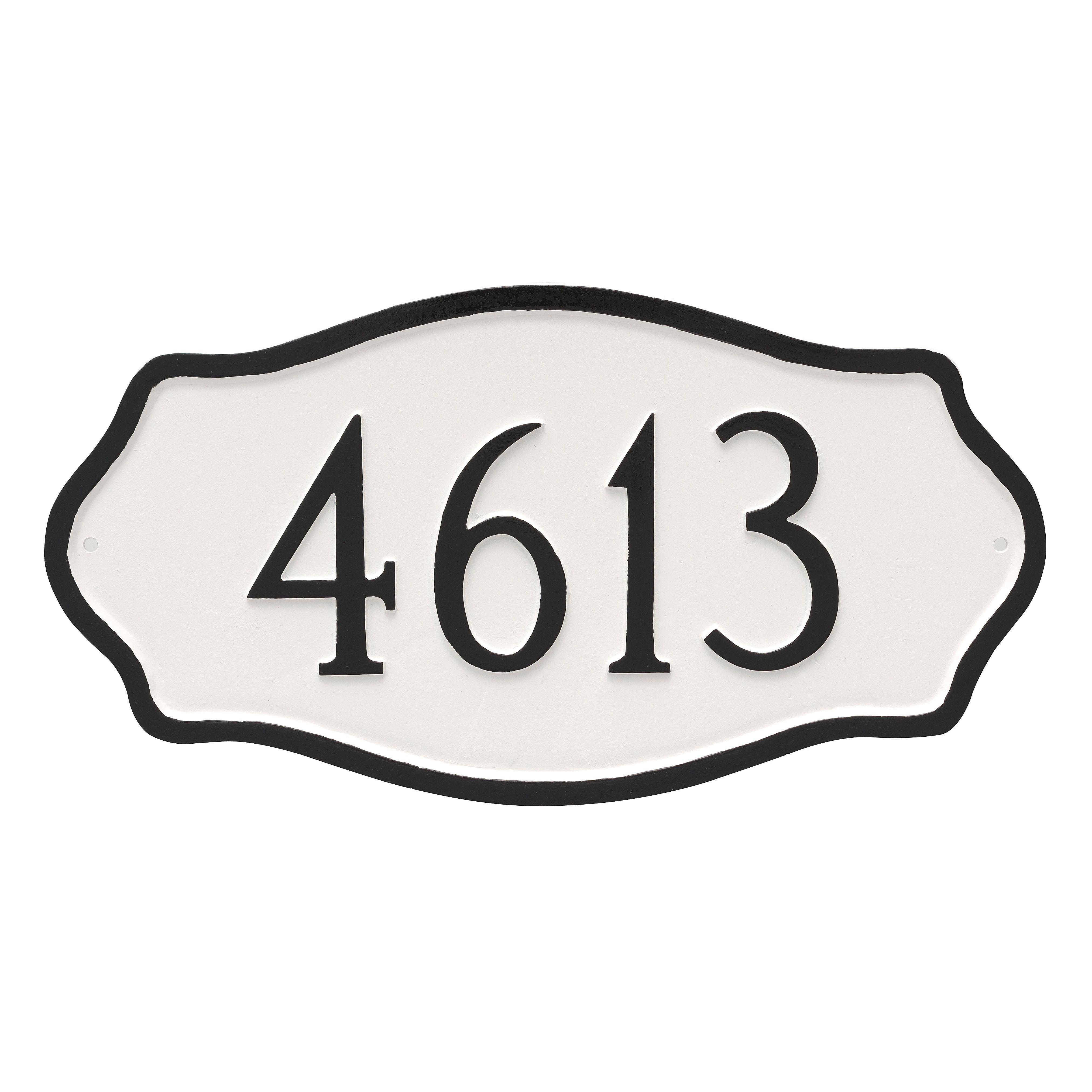 Hamilton 1Line Wall Address Plaque Address plaque