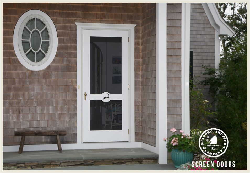 Wooden Screen Doors 171 Seaport Shutter Cottage Style