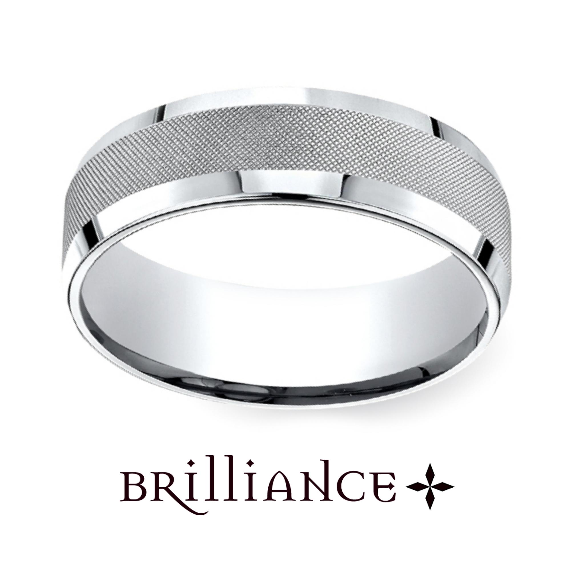cross hatch men s wedding ring in white gold http www brilliance