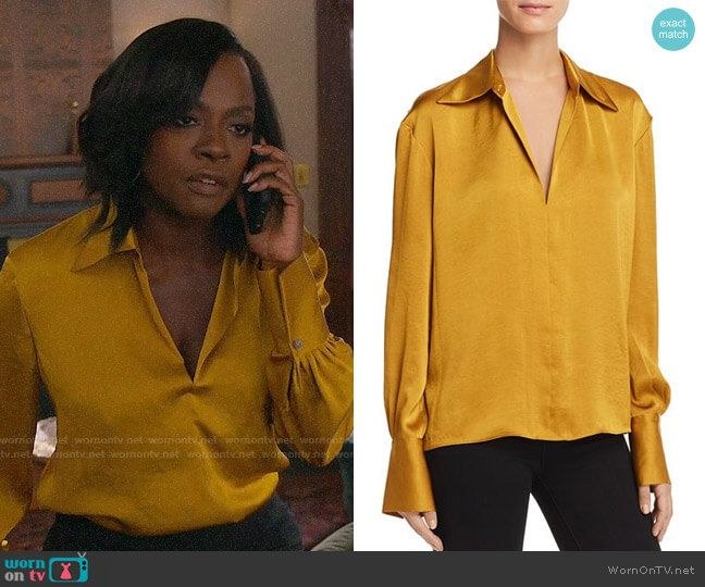 e9ca65f7be97a4 Annalise s yellow blouse on How to Get Away with Murder. Outfit Details   https