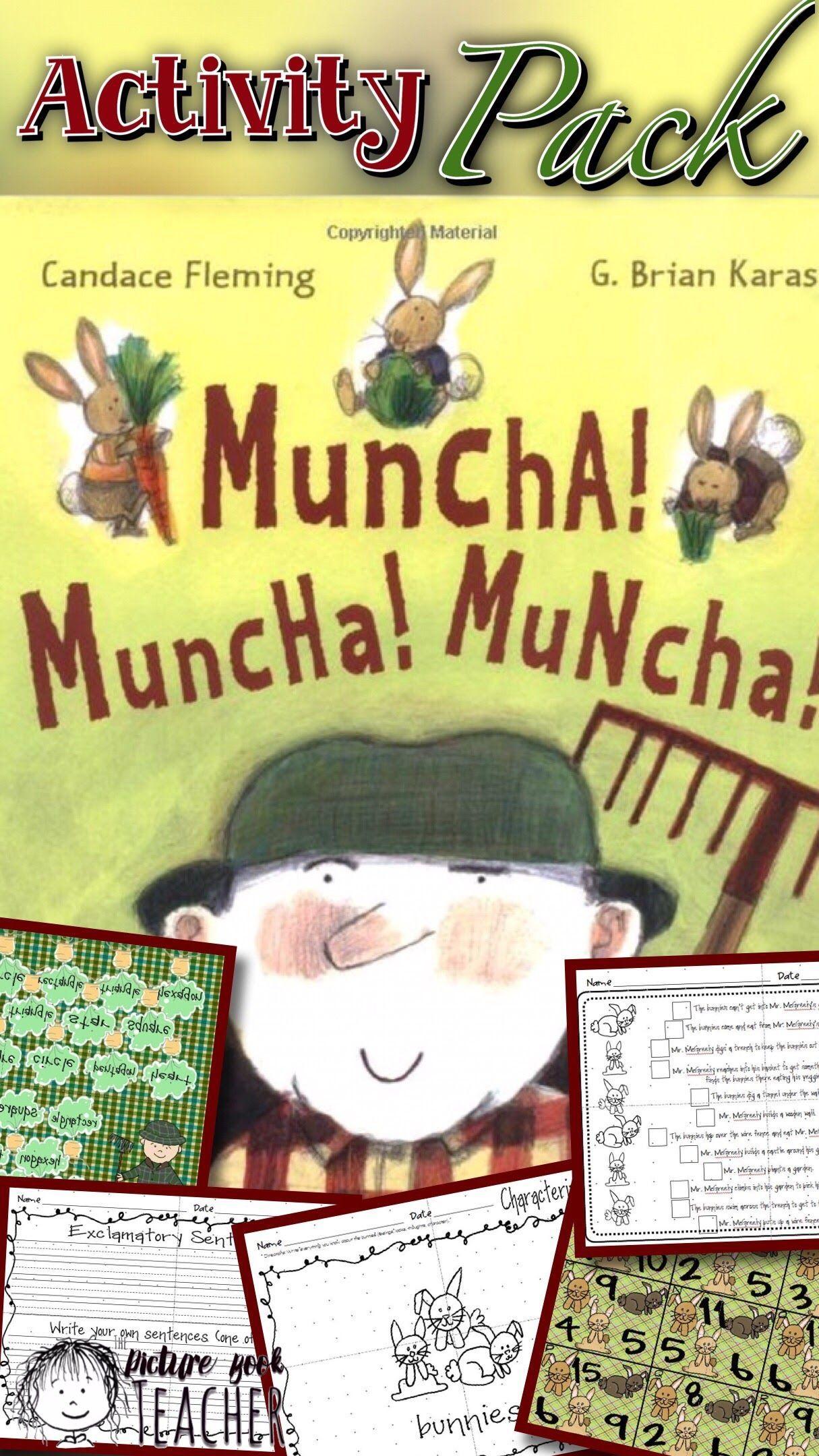 Activity Packet Inspired By Muncha Muncha Muncha By
