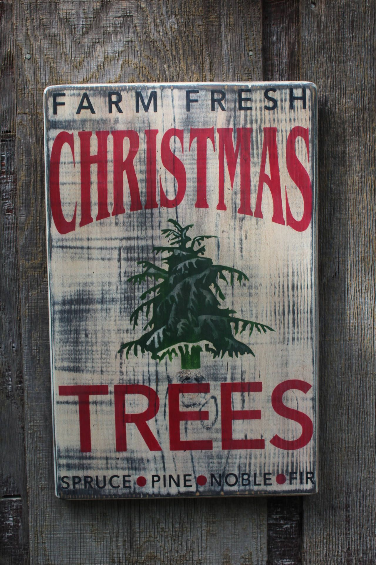 Farm Fresh Christmas Tree Wood Sign Pallet sign Rustic