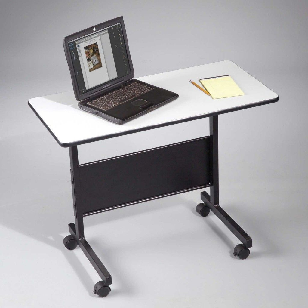 The Small Laptop Table With Adjustable Height.
