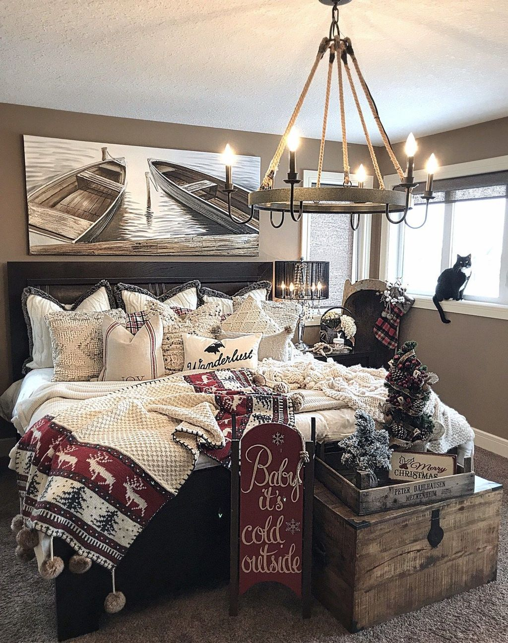 31 Nice Winter Bedding Ideas For Cozy Bedroom in 2020