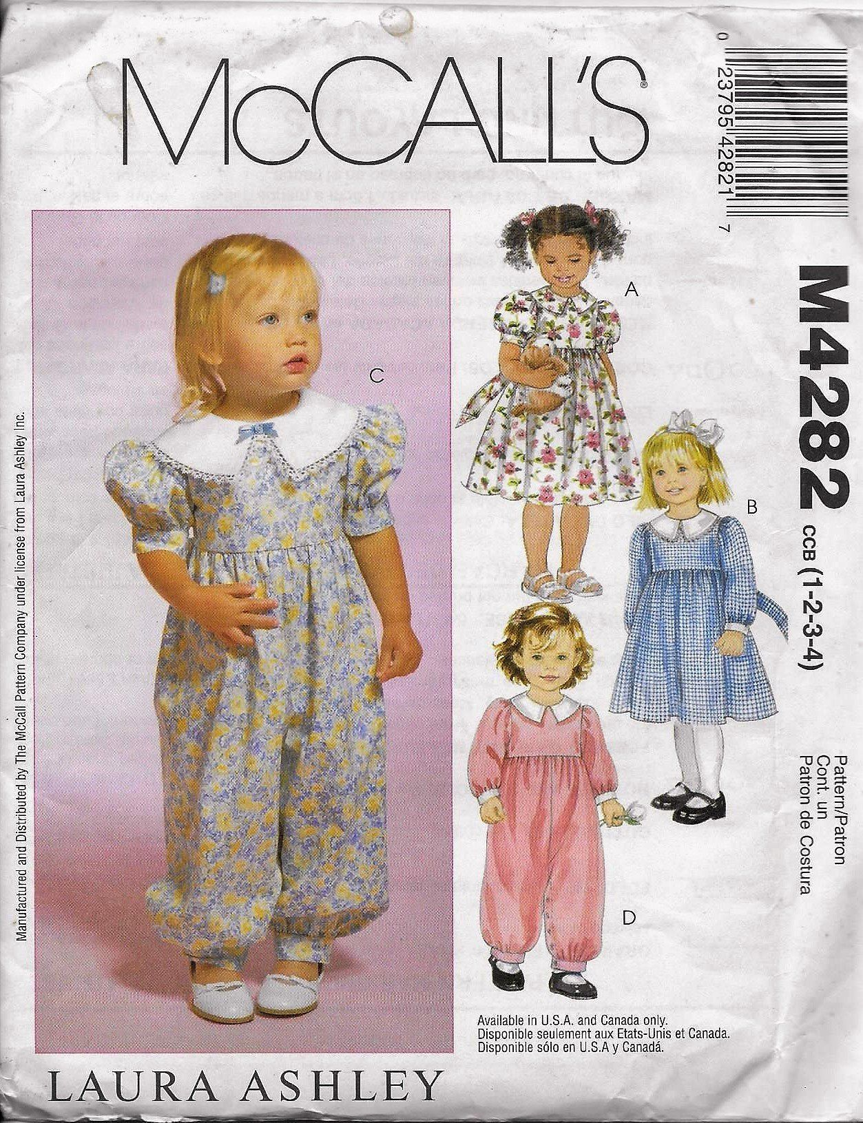 638436a58213 McCall's 4282 Laura Ashley Sewing Pattern, Toddlers' Dresses And ...
