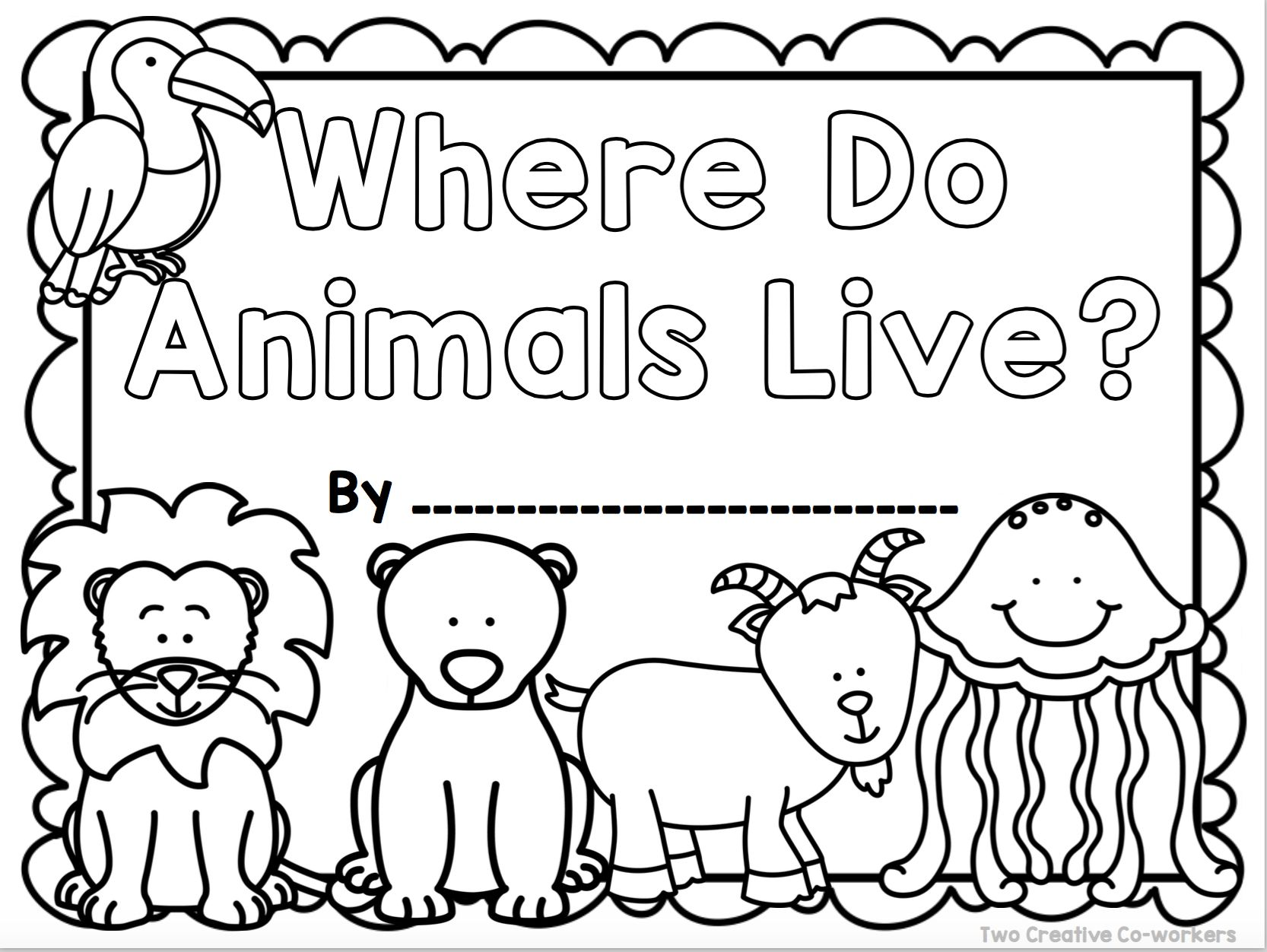 This cover is part of a book included in our Animal Habitats packet. It is  a great way to tea…   Animal habitats preschool [ 1252 x 1666 Pixel ]