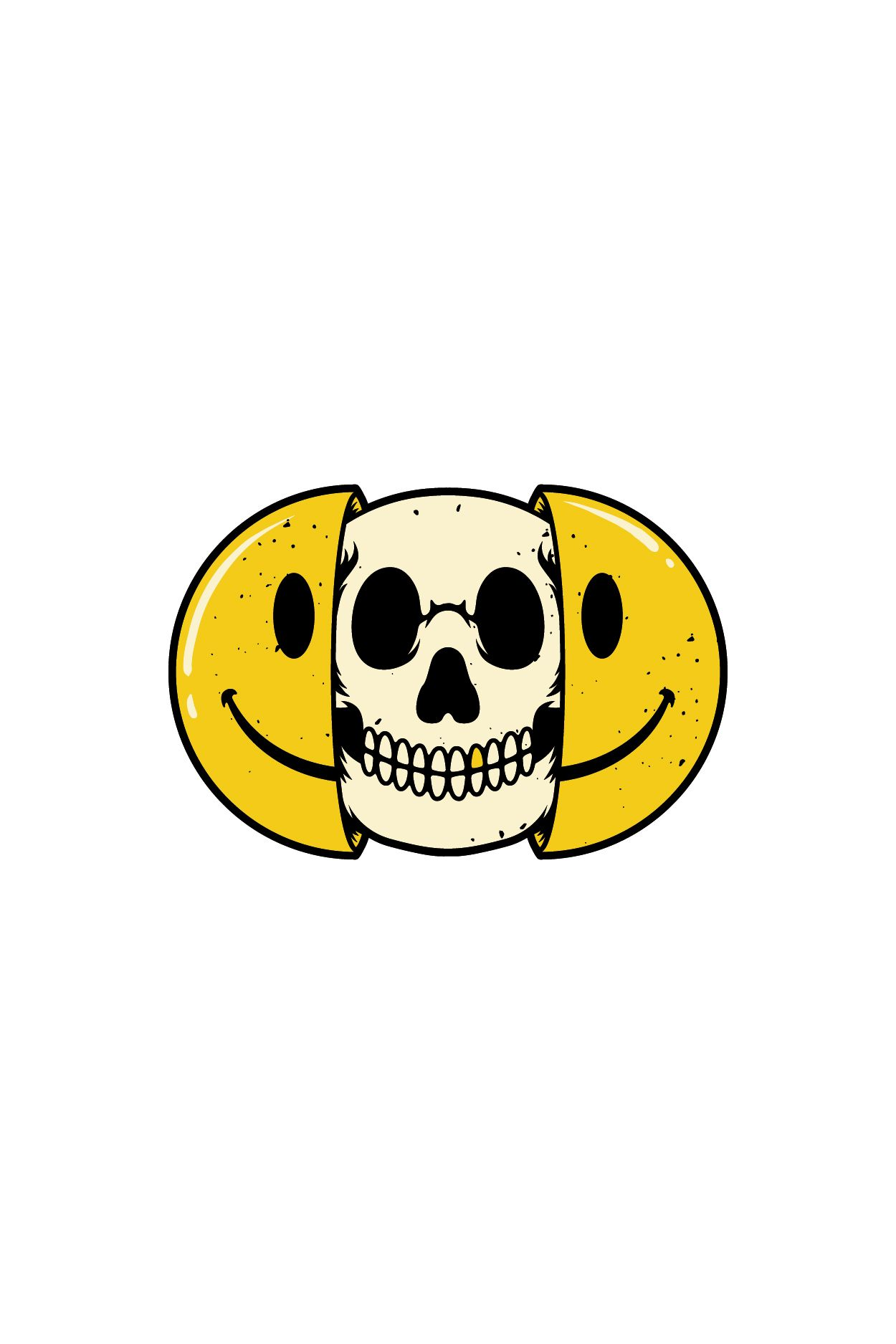 Half Skull Emoticons Emojis With Bright Backgrounds Skeleton Artwork Skull Art Skeleton Art