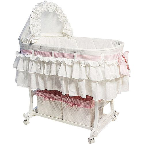 Comfort Baby With This Burlington Baby Rocking Bassinet Cradle Combo