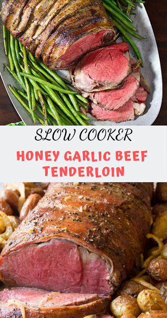 ALLURING SLOW COOKER HONEY GARLIC BEEF TENDERLOIN #beeftenderloin