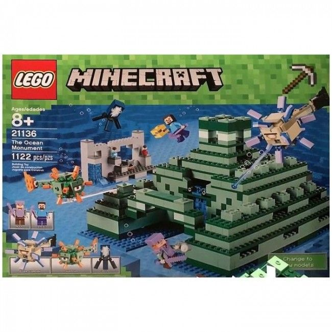 lego minecraft le monument sous marin castello jeux et jouets lego pinterest lego. Black Bedroom Furniture Sets. Home Design Ideas