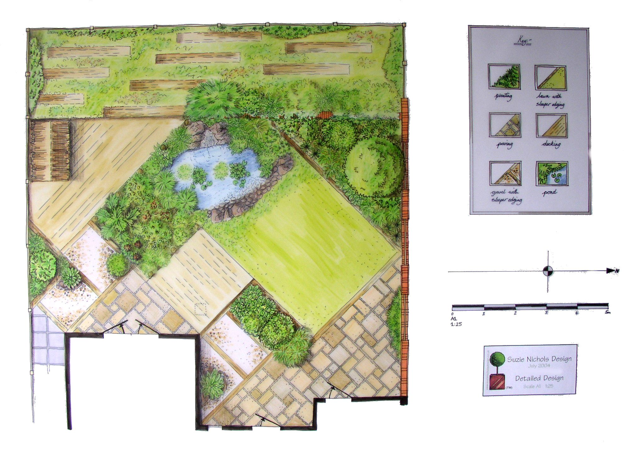 Large image of Suzie Nichols Wildlife Garden design Landscape