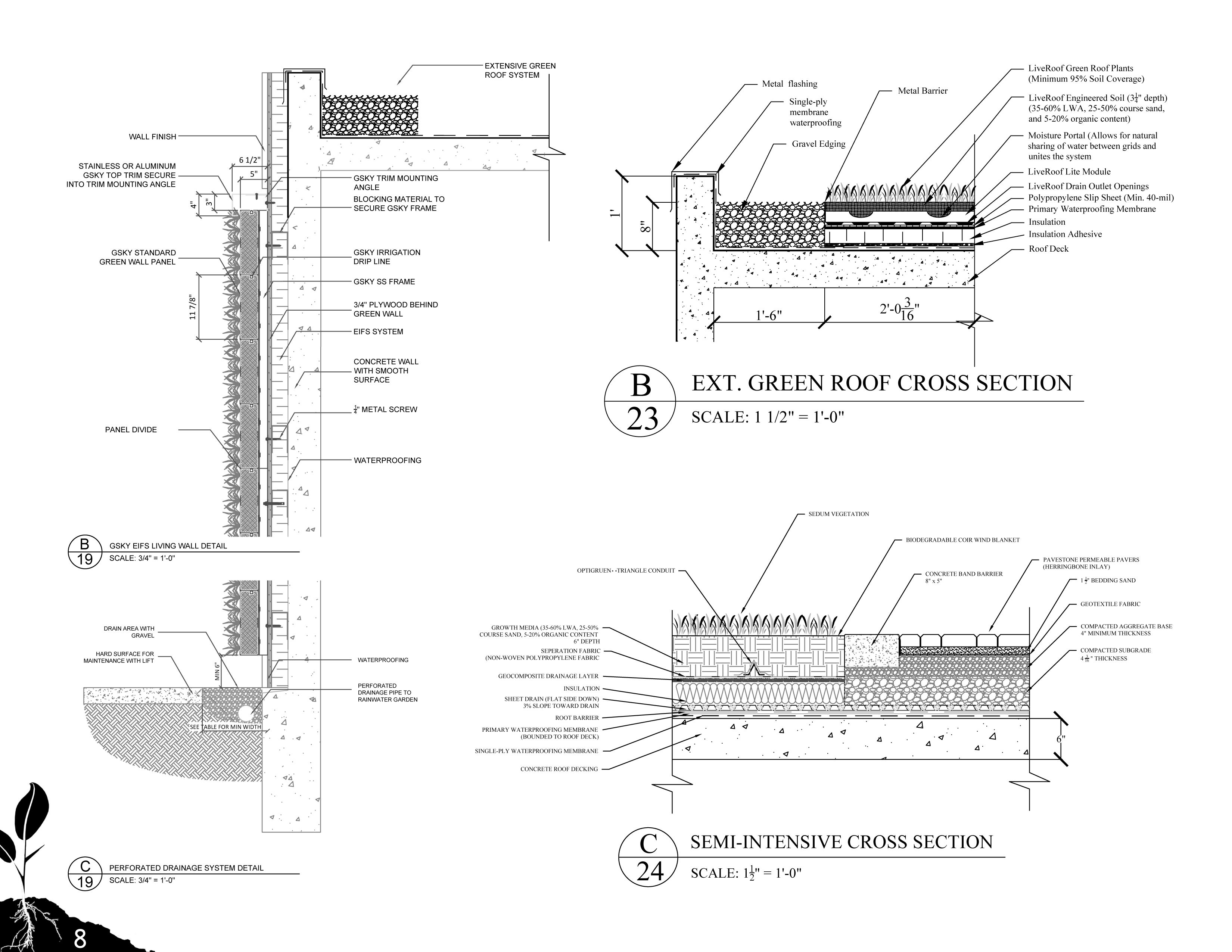 Sustainable Construction Details By Jordankaylor On Deviantart Green Roof Roof Detail Roof Architecture