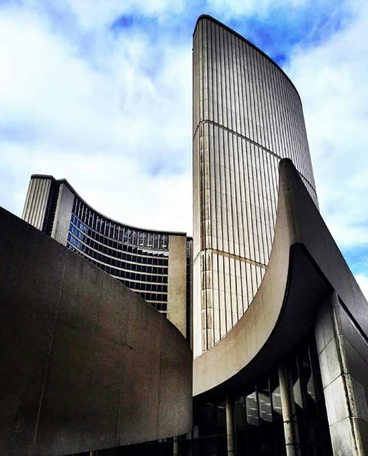 Toronto City Hall designed by Finnish architect Viljo Revell and completed in 1965.