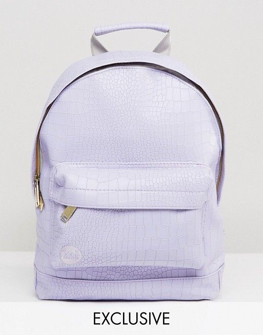 Discount Websites Exclusive Faux Croc Mini Backpack in Lilac - Purple Mi Pac Outlet Sale Online Discount Footaction Clearance Shop For cwGPV