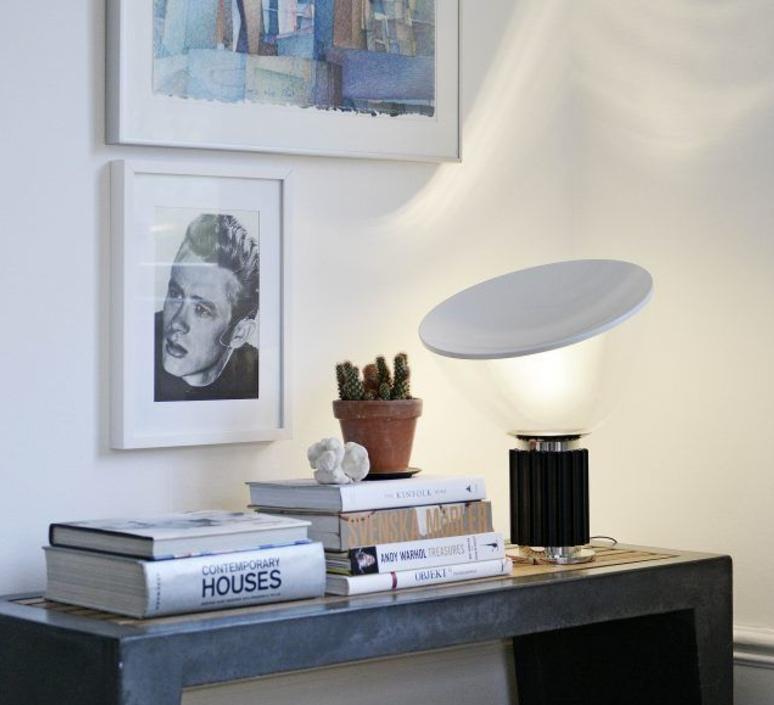 Taccia flos castiglioni lampeposer tablelamp retro flos lampe poser taccia noir h645cm flos mozeypictures Gallery