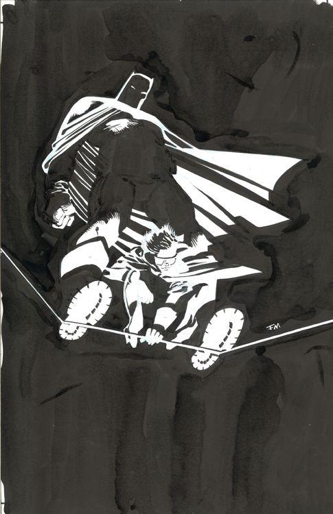 The Dark Knight Returns: 10th Anniversary dedication splash by Frank Miller