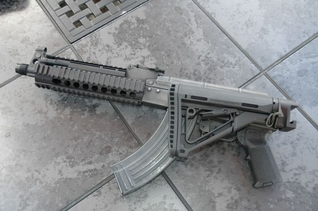 Krink style AK-47 with Magpul folding stock and grip    The Gun