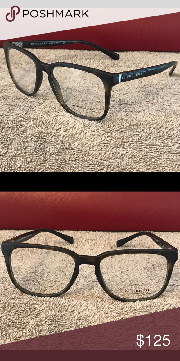 0a7c7a6783e Authentic Burberry Eyeglass Frames Matte Brown Tortoise Shell Burberry  Accessories Glasses