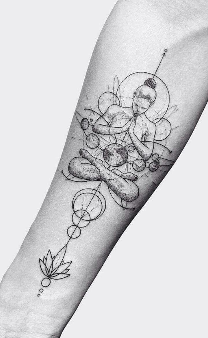 Pingl par andrea mej a sur tattoos pinterest tatouages id es de tatouages et tatouage de - Tatouage systeme solaire ...