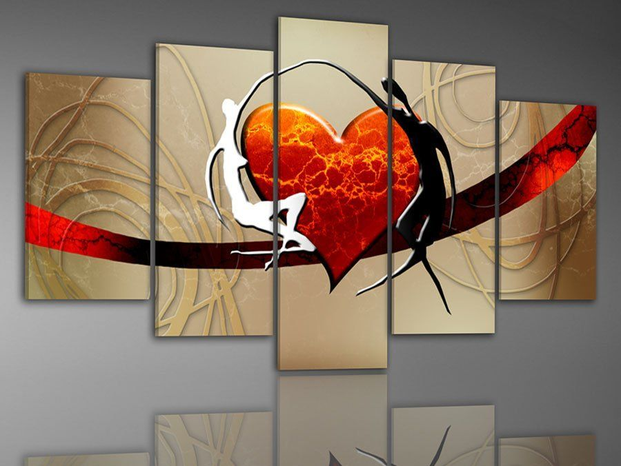 100 hand painted abstract 5 piece canvas art framed wall art canvas modern sets home