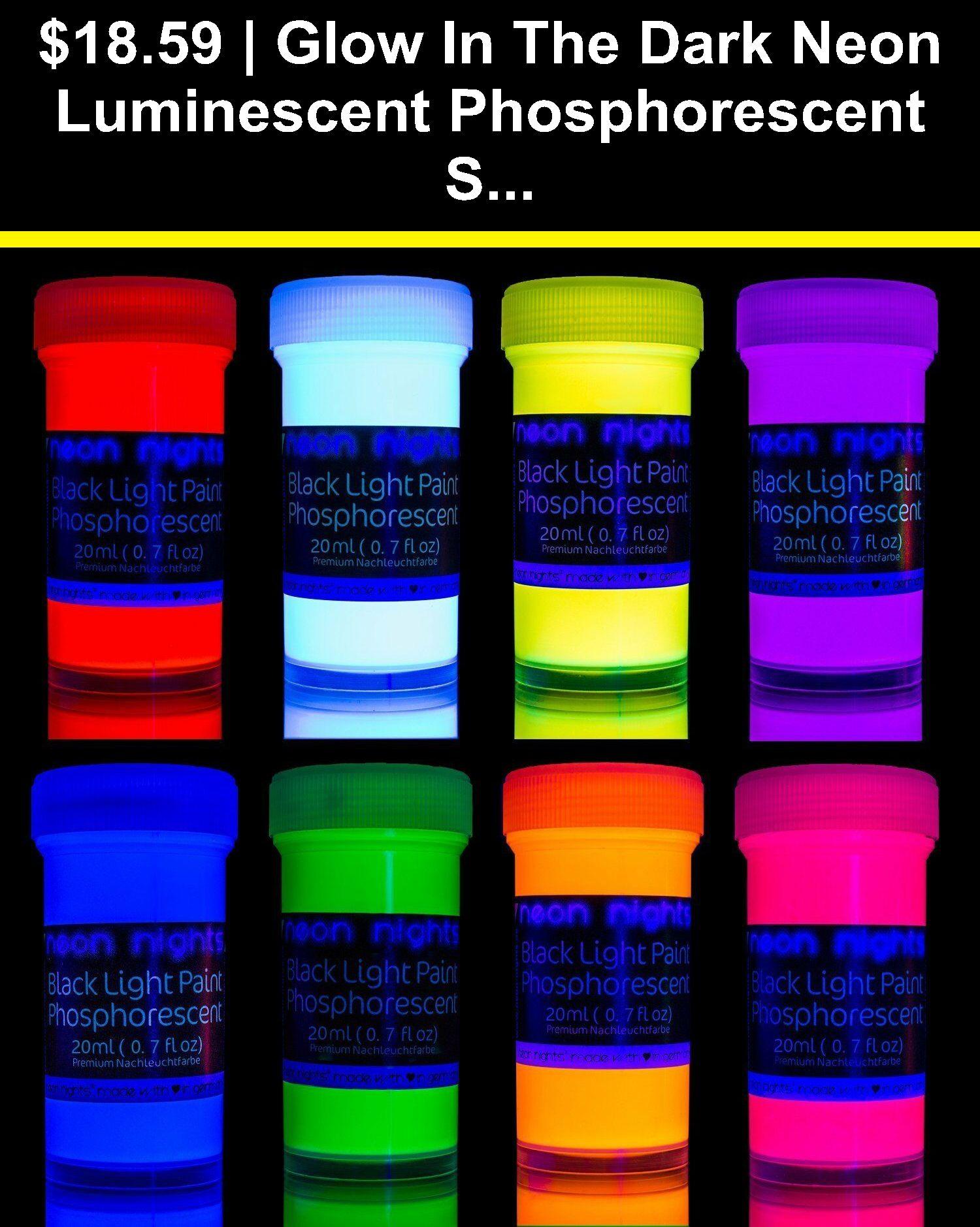 Acrylic paint 31401 glow in the dark neon luminescent