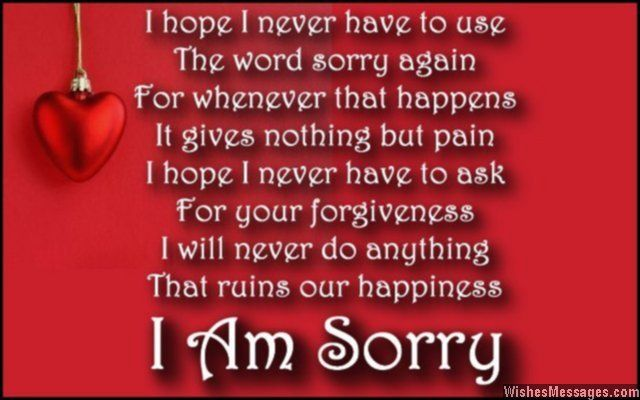 I Am Sorry Poems For Wife Apology Poems For Her Im Sorry Quotes