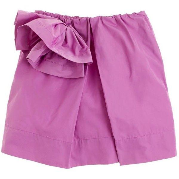 J.Crew Girls' taffeta flower skirt (2.855 RUB) found on Polyvore featuring bright fuchsia