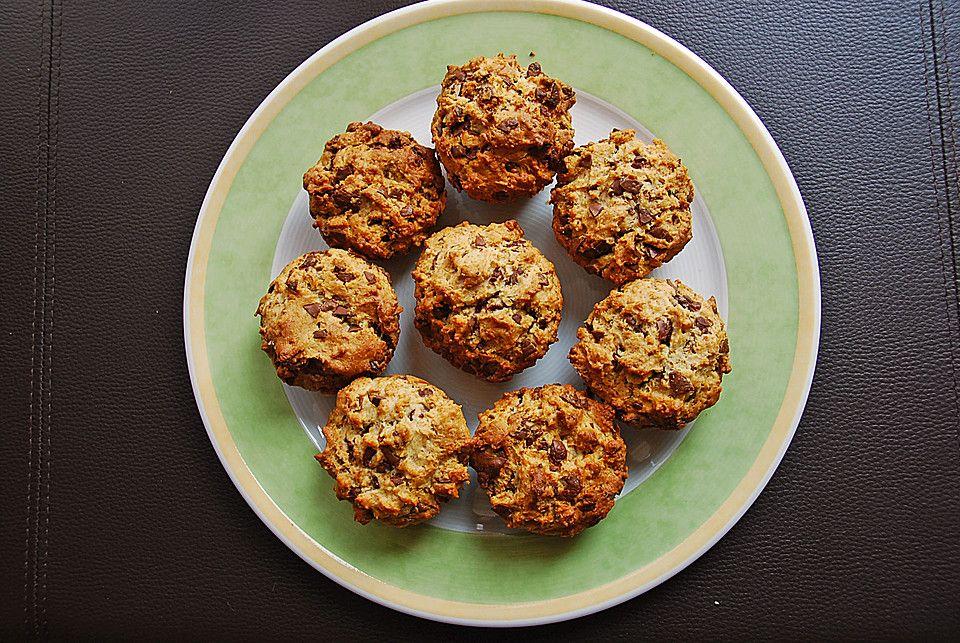 Schoko-Walnuss Muffins, glutenfrei