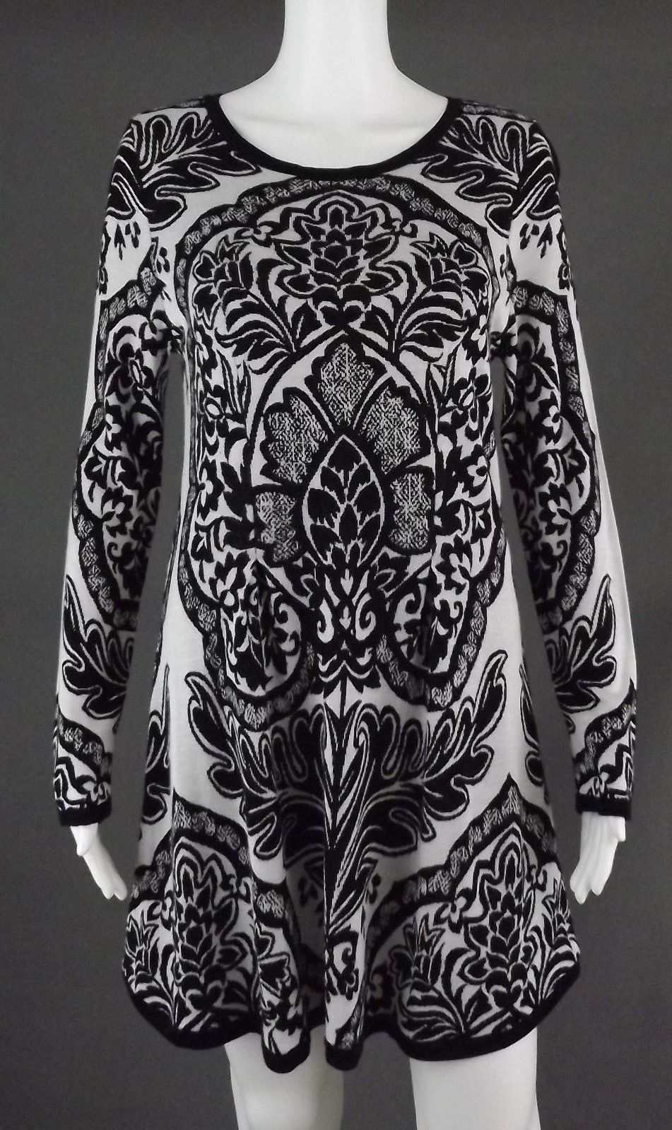Cool Amazing STYLE & CO BLACK & WHITE SWEATER DRESS - SIZE 10 2017 ...